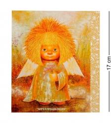 ANG-189 Открытка  Ангел с незабудками  15х17