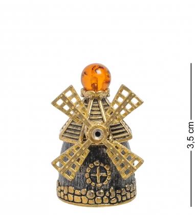 AM-2020 Наперсток  Мельница   латунь, янтарь