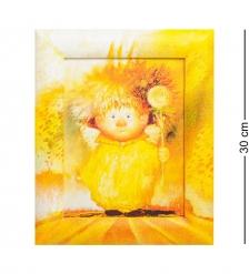 ANG-216 Жикле в раме  Ангел крепкого здоровья  18х24