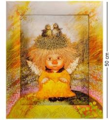 ANG-231 Жикле в раме  Ангел семейного счастья  30х40