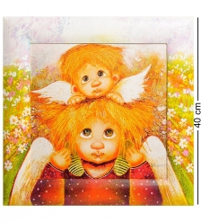 ANG-253 Жикле в раме  Ангел семейной любви  30х30