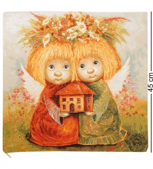 ANG-261 Наволочка гобеленовая «Ангелы хранители дома» 45х45