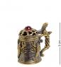 AM-2053 Наперсток  Кружка пивная   латунь, янтарь