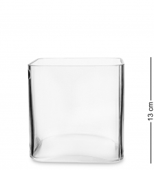NM-21696 Ваза-квадрат стеклянная 13 см  Неман