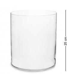 NM-23382 Ваза-цилиндр стеклянная 25 см  Неман