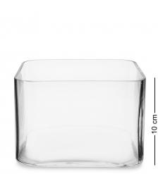 NM-24135 Ваза-квадрат стеклянная 10 см  Неман