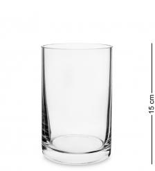 NM-25876 Ваза-цилиндр стеклянная 15 см  Неман