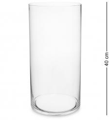 NM-25889 Ваза-цилиндр стеклянная 40 см  Неман