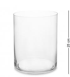NM-26750 Ваза-цилиндр стеклянная 25 см  Неман