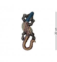 20-226 Панно настенное «Геккон»  албезия, о.Бали  20см