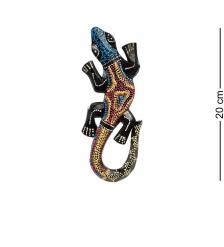 20-227 Панно настенное «Геккон»  албезия, о.Бали  20см