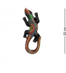 20-229 Панно настенное «Геккон»  албезия, о.Бали  20см
