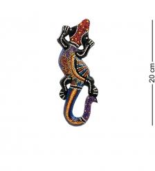 20-231 Панно настенное «Геккон»  албезия, о.Бали  20см