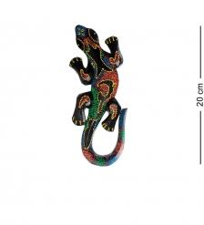 20-232 Панно настенное «Геккон»  албезия, о.Бали  20см