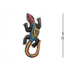20-234 Панно настенное «Геккон»  албезия, о.Бали  20см