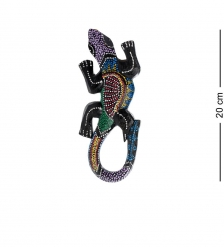 20-235 Панно настенное «Геккон»  албезия, о.Бали  20см