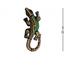 20-237 Панно настенное «Геккон»  албезия, о.Бали  20см