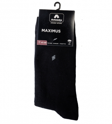 Носки мужские Maximus AWM-0007  41-44 черный  зима   Artsocks