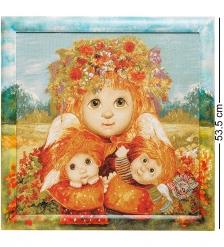 ANG-342 Гобелен в расписной раме  Материнская любовь  45х45