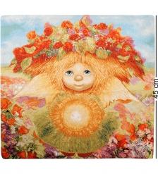 ANG-355 Наволочка гобеленовая «Солнечный ангел» 45х45