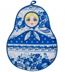 ТК-236 Подвесной кармашек «Матрешка»  синий