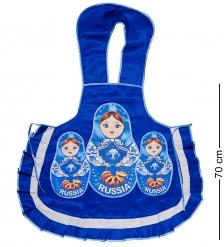 ТК-238 Фартук «Матрешки» для взрослых  синий