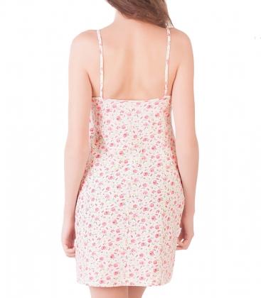 Сорочка ночная женская 8006, р.092, рост 170, молочный с рис.  Serge
