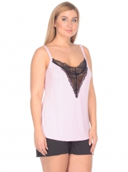 Пижама женская 5048, р.096, рост 170, розовый с рисунком  Serge