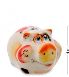 ГЛ-481 Фигурка «Свинка» цв.  Гжельский фарфор