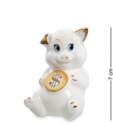 XA-555 Фигурка  Свинья с монетой - к достатку