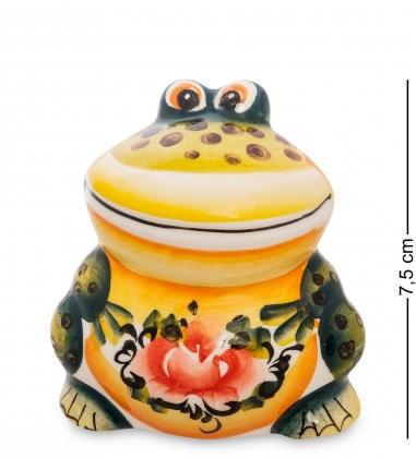 ГЛ-506 Фигурка  Лягушка  цв.  Гжельский фарфор