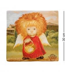 ANG-390 Наволочка гобеленовая «Ангел освещающий жизненный путь» 30х30