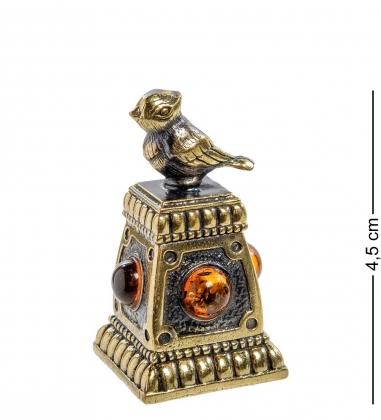 AM-2124 Колокольчик  Чижик-Пыжик   латунь, янтарь