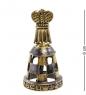AM-2125 Фигурка  Колокольчик-Шахматы Король   латунь