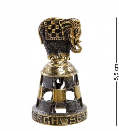 AM-2129 Фигурка  Колокольчик-Шахматы Слон   латунь
