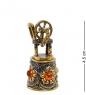 AM-2152 Наперсток  Ажурный с веретеном   латунь, янтарь