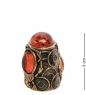 AM-2157 Наперсток  Жук Египетский   латунь, янтарь