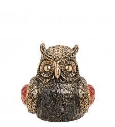 AM-2158 Наперсток «Сова ушастая»  латунь, янтарь