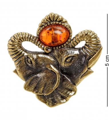 AM-2172 Подвеска  Слоны-Индия   латунь, янтарь