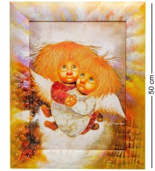 ANG-406 Жикле в раме  Ангелы теплых чувств  30х40