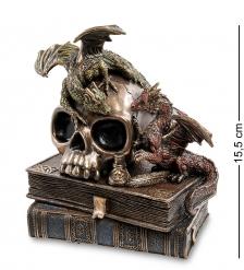 WS-919 Статуэтка  Драконы на черепе и книгах