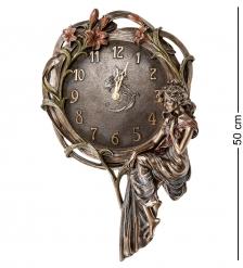 WS-941 Панно-часы «Девушка и лилии»
