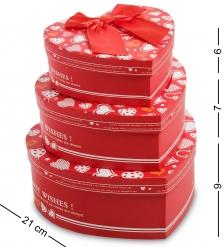 WG-03 Набор коробок из 3шт  Сердце  - Вариант A