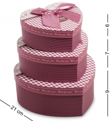 WG-06 Набор коробок из 3шт  Сердце  - Вариант A