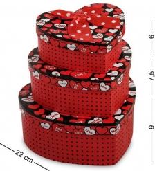 WG-11 Набор коробок из 3шт  Сердце  - Вариант A