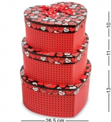 WG-55 Набор коробок из 3шт  Сердце  - Вариант A