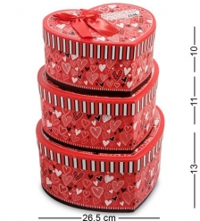 WG-56 Набор коробок из 3шт  Сердце  - Вариант A