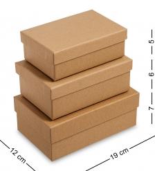 WG-107 Набор коробок из 3шт  Браун