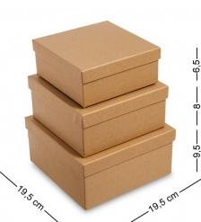 WG-108 Набор коробок из 3шт  Браун