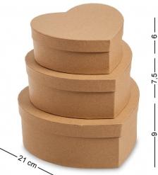 WG-109 Набор коробок из 3шт  Браун